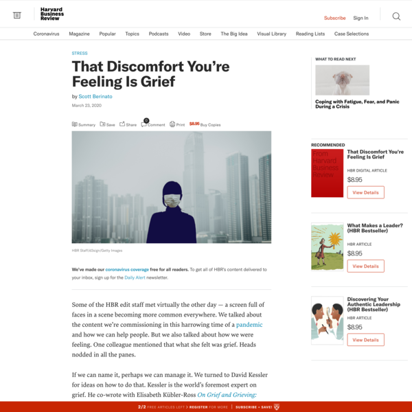 That Discomfort You're Feeling Is Grief