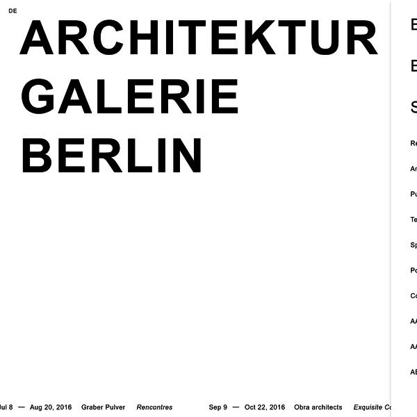 [en] Architektur Galerie Berlin