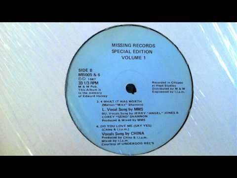 Marcus Mixx - 4 What It Was Worth (Missing Records 1) 1987
