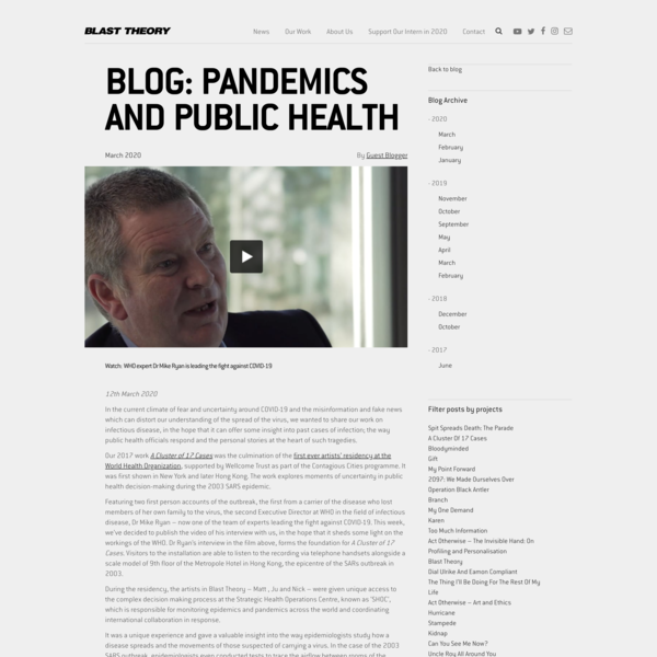 Pandemics and Public Health