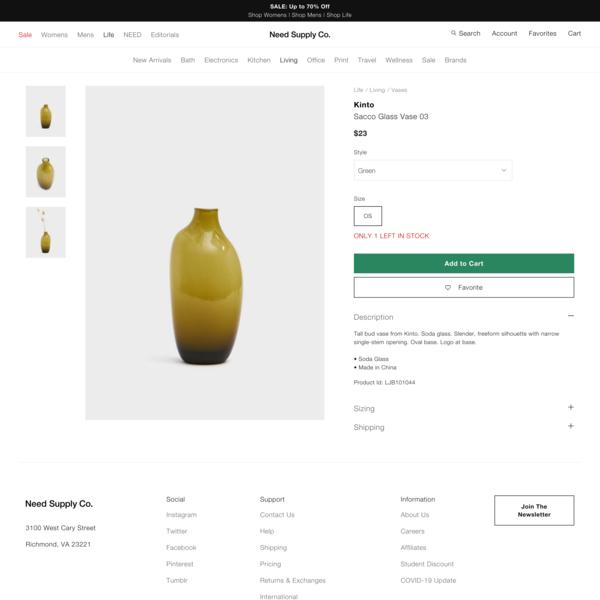 Kinto Sacco Glass Vase 03