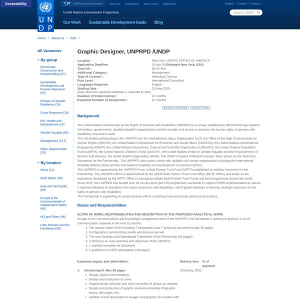 UNDP Jobs - 91078- Graphic Designer, UNPRPD /UNDP