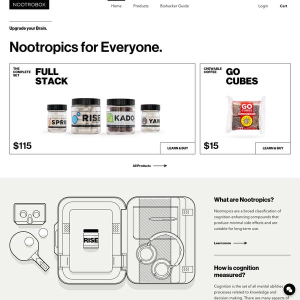 Nootropics for Everyone | Nootrobox