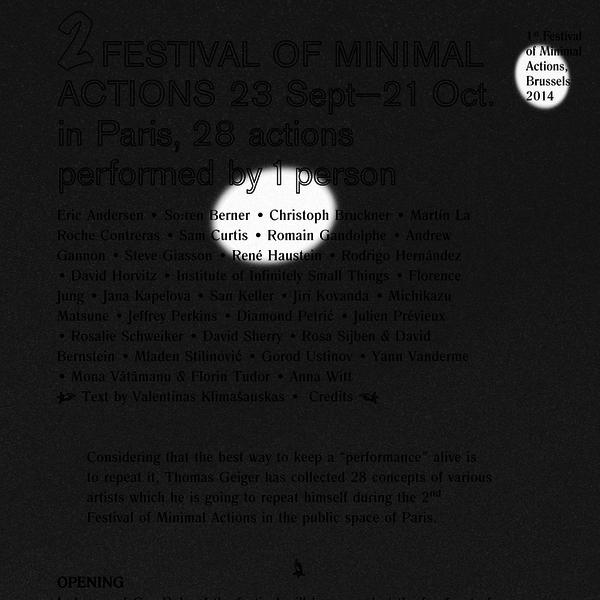 Festival of Minimal Actions 2015
