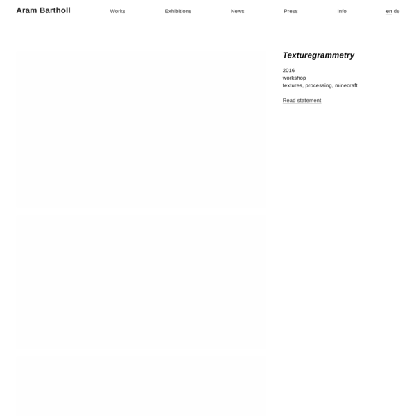 Texturegrammetry – Aram Bartholl
