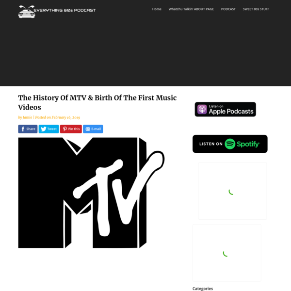 The History Of MTV & Birth Of The First Music Videos -