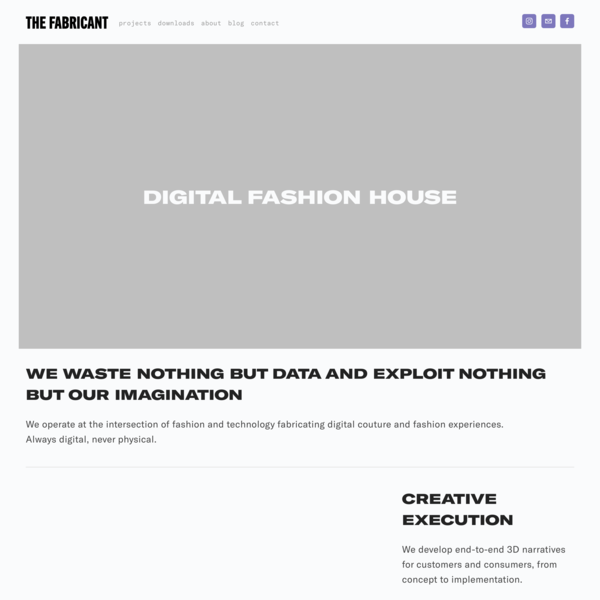 The Fabricant | A Digital Fashion House