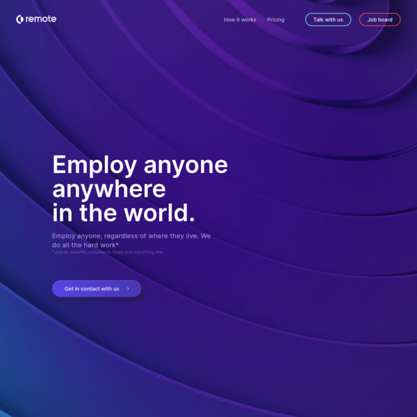 Employ internationally through Remote