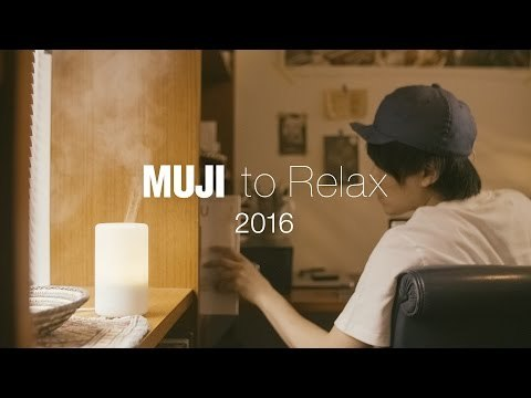 http://www.muji.com/jp/relax/ 無印良品は世界中の店舗でリラックス空間を提供します。体にフィットするソファとアロマディフューザーで、ひとやすみしてください。 MUJI provides a space for relaxation in its stores around the globe. Take a rest with an aroma diffuser and a sofa that fits around your body perfectly.