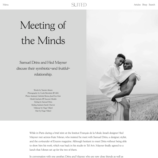 Meeting of the Minds - Suited Magazine