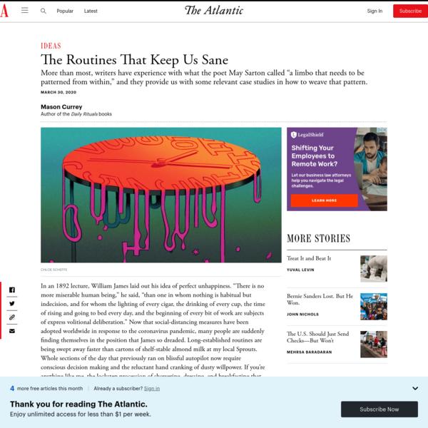 Coronavirus: The Routines That Keep Us Sane - The Atlantic