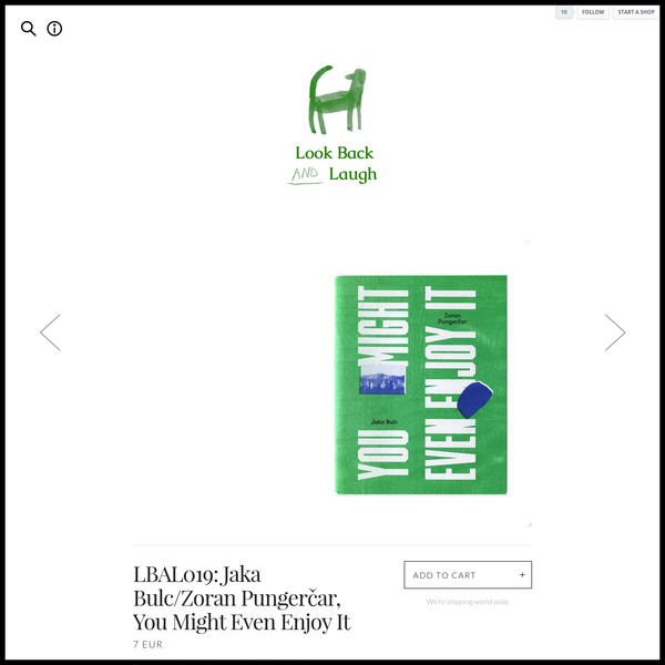 LBAL019: Jaka Bulc/Zoran Pungerčar, You Might Even Enjoy It by Look Back and Laugh Books