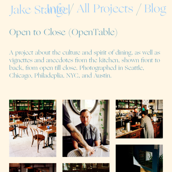 Open to Close (OpenTable) - Jake Stangel