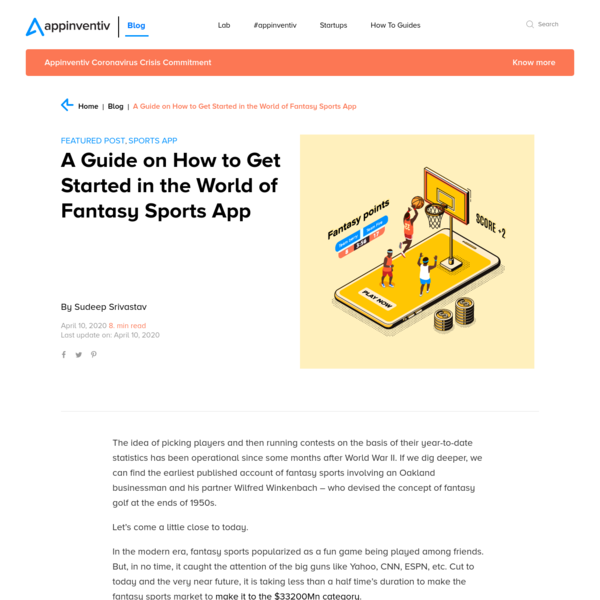 Guide on How to Get Started With Fantasy Mobile App | Appinventiv