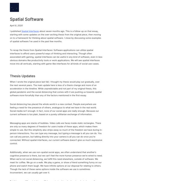 Spatial Software | Dark Blue Heaven
