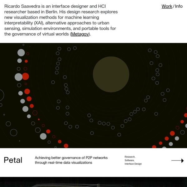 Ricardo Saavedra / Interface Designer