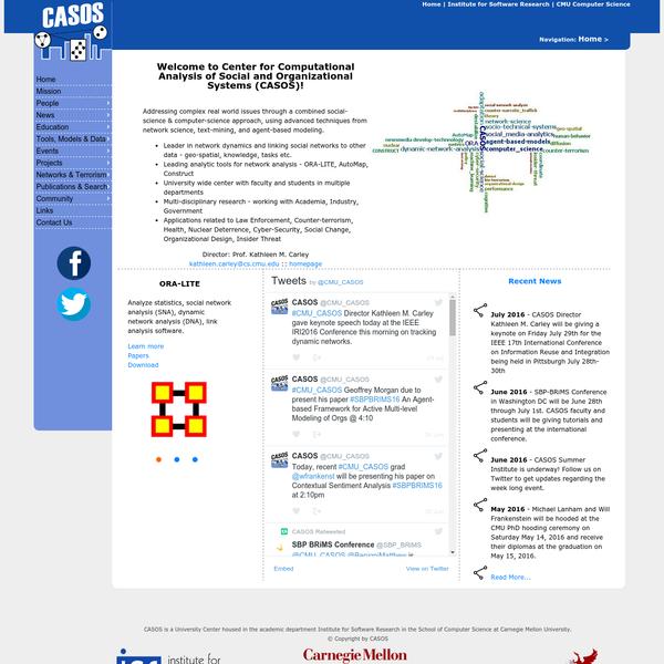 Homepage | CASOS