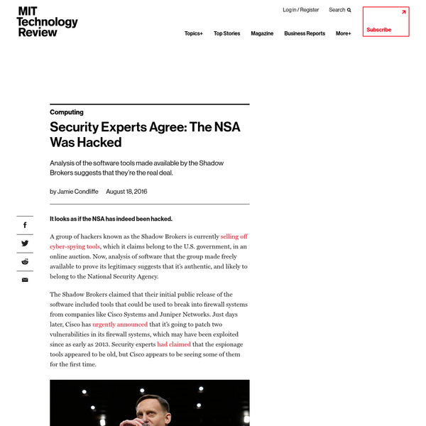 It looks as if the NSA has indeed been hacked. A group of hackers known as the Shadow Brokers is currently selling off cyber-spying tools, which it claims belong to the U.S. government, in an online auction.