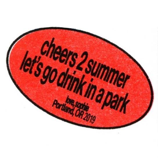 whiteclaw summer date spots riso print 🌠