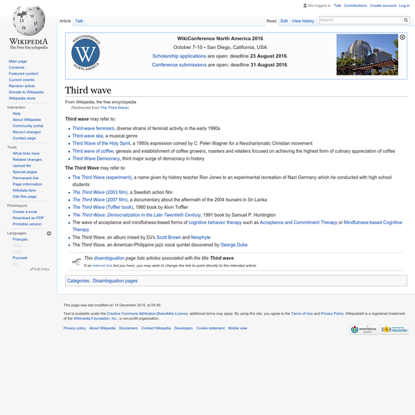 Third wave - Wikipedia, the free encyclopedia
