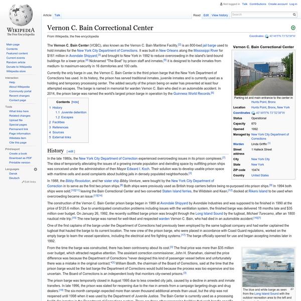 Vernon C. Bain Correctional Center - Wikipedia, the free encyclopedia