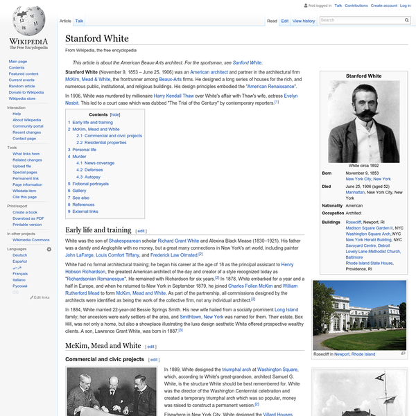 Stanford White - Wikipedia, the free encyclopedia