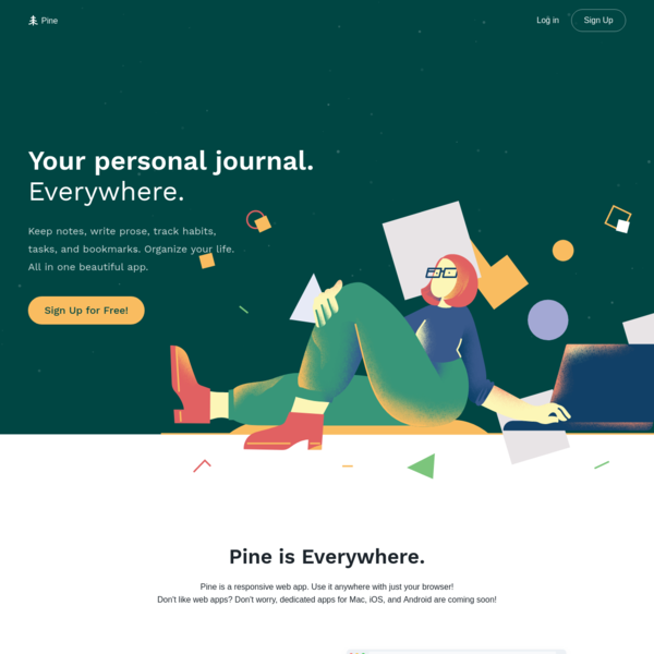 Your Personal Journal. Everywhere.