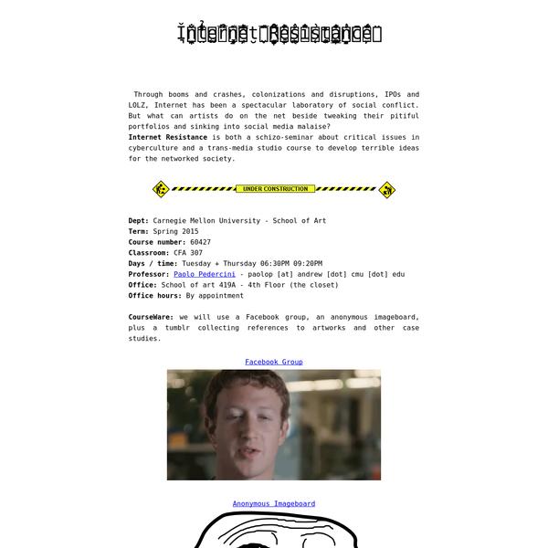 Ǐ̩̯͉̮̮̪̐ͪ͐̌n̒̃ͪ̔t̤̉͛ͦe̫͍ͯ̎̅rͪ͒n̝͖͇̦͎͔̔́̿ͤ͛͊e͎̮t͔̬ͪ̂̅̈́ ̤͔̬̟̤͕̣ͭ̐̊ͧ̆R̠̦͓̞̓́͌ͬͨē͖̹̯̼͇͙̖s̾ͫ̐̽͗i͙͕̣s̜͖͙̥̤̒͗t̳̠̥̺̞͓̔ͤͦ̈́a̼ͪͥn̠̝̍͗ͭͪͫc̄̇ͧ̈́̍́e̦̱͂̈ͩ͑ͮͭ - syllabus