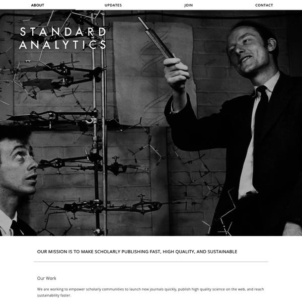 Standard Analytics - Home