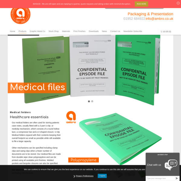Medical Folders - Ambroplastics