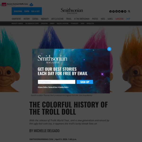 The Colorful History of the Troll Doll