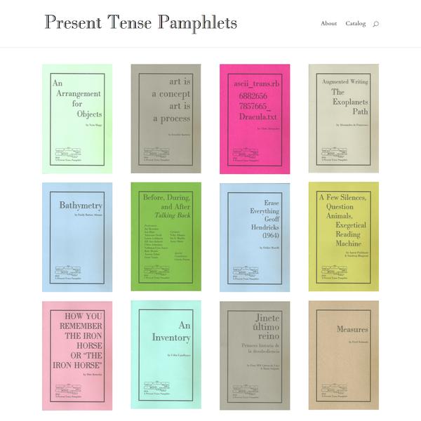 Present Tense Pamphlets