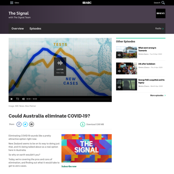 Could Australia eliminate COVID-19?