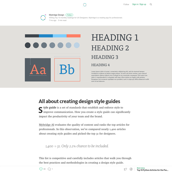 All about creating design style guides - Mybridge for Professionals
