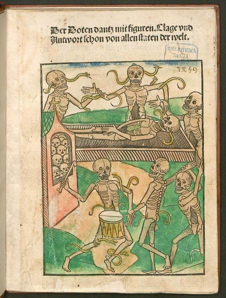 """Der Doten dantz mit figuren"" ca. 1492"