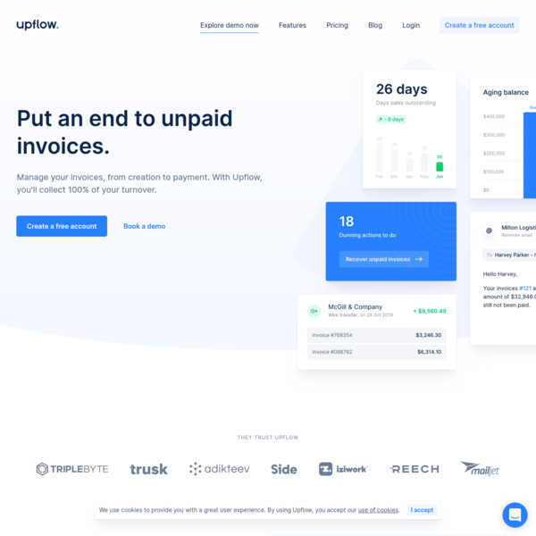 Put an end to unpaid invoices | Upflow