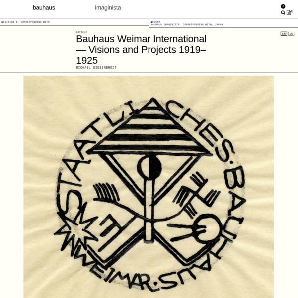 Bauhaus Weimar International - Articles - bauhaus imaginista