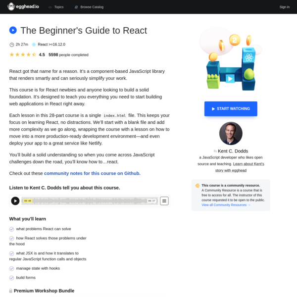 The Beginner's Guide to React
