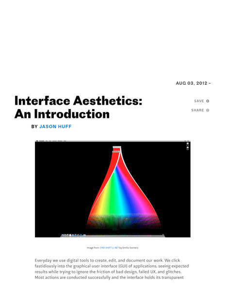 Jason Huff – Rhizome – Interface Aesthetics
