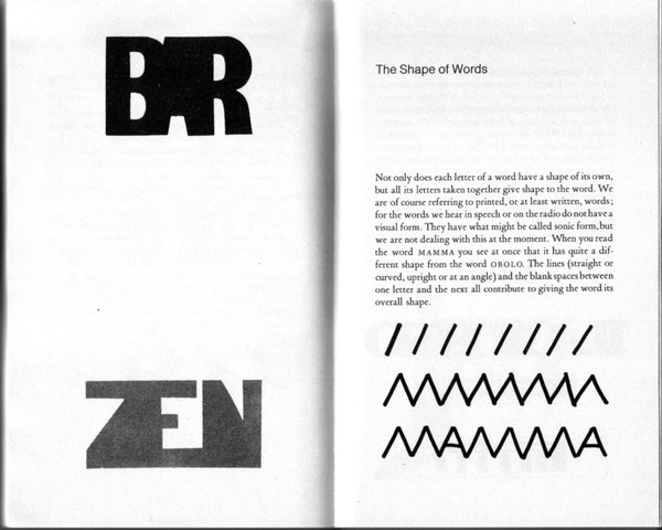 Bruno Munari – The Shape of Words