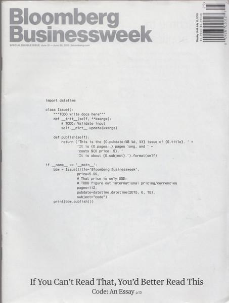 Paul Ford – Bloomberg Businessweek –What is Code