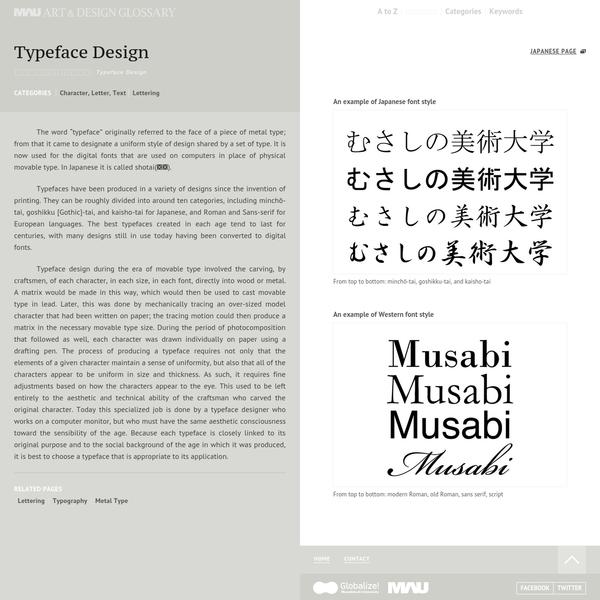 MAU ART & DESIGN GLOSSARY|Musashino Art University