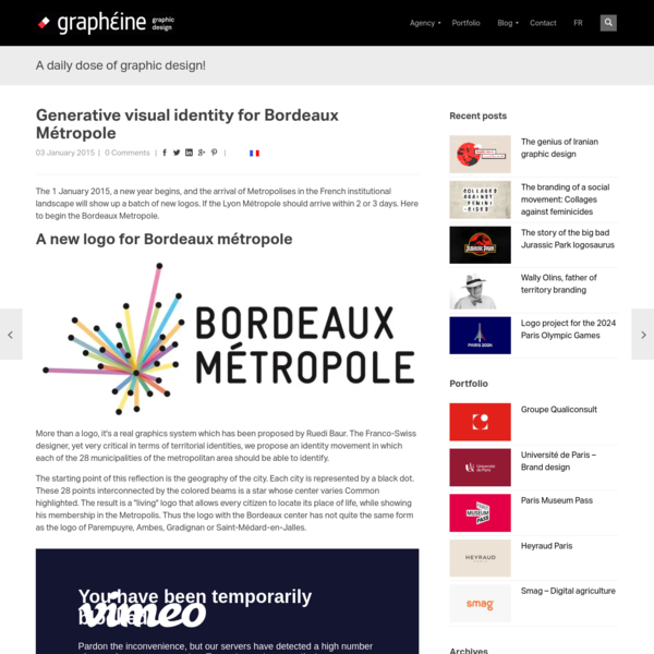 Generative visual identity for Bordeaux Métropole