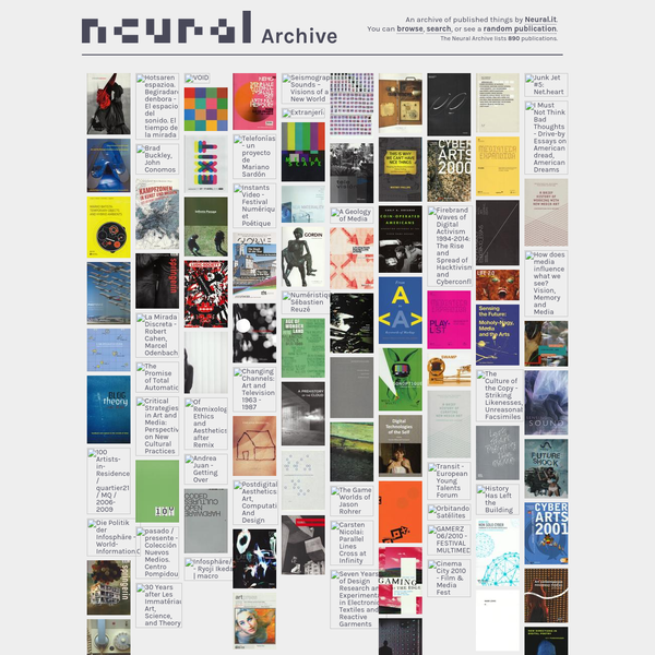 An archive of published things