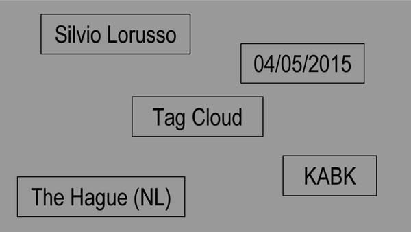 Silvio Lorusso – Tag Cloud– 2015