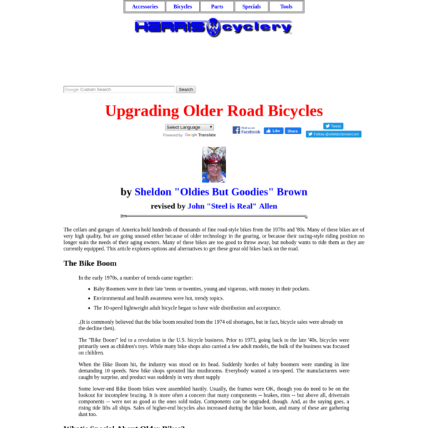 Upgrading Older Road Bicycles