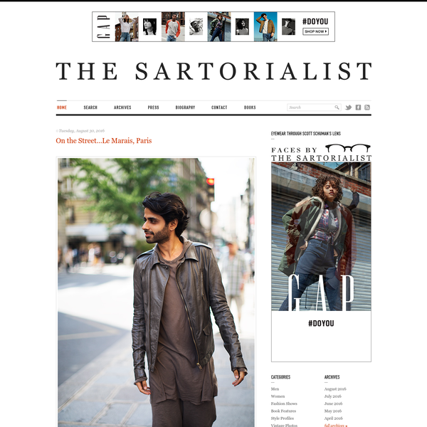 Copyright © 2005 - 2016 The Sartorialist . All rights reserved. Do not use or reproduce without permission.