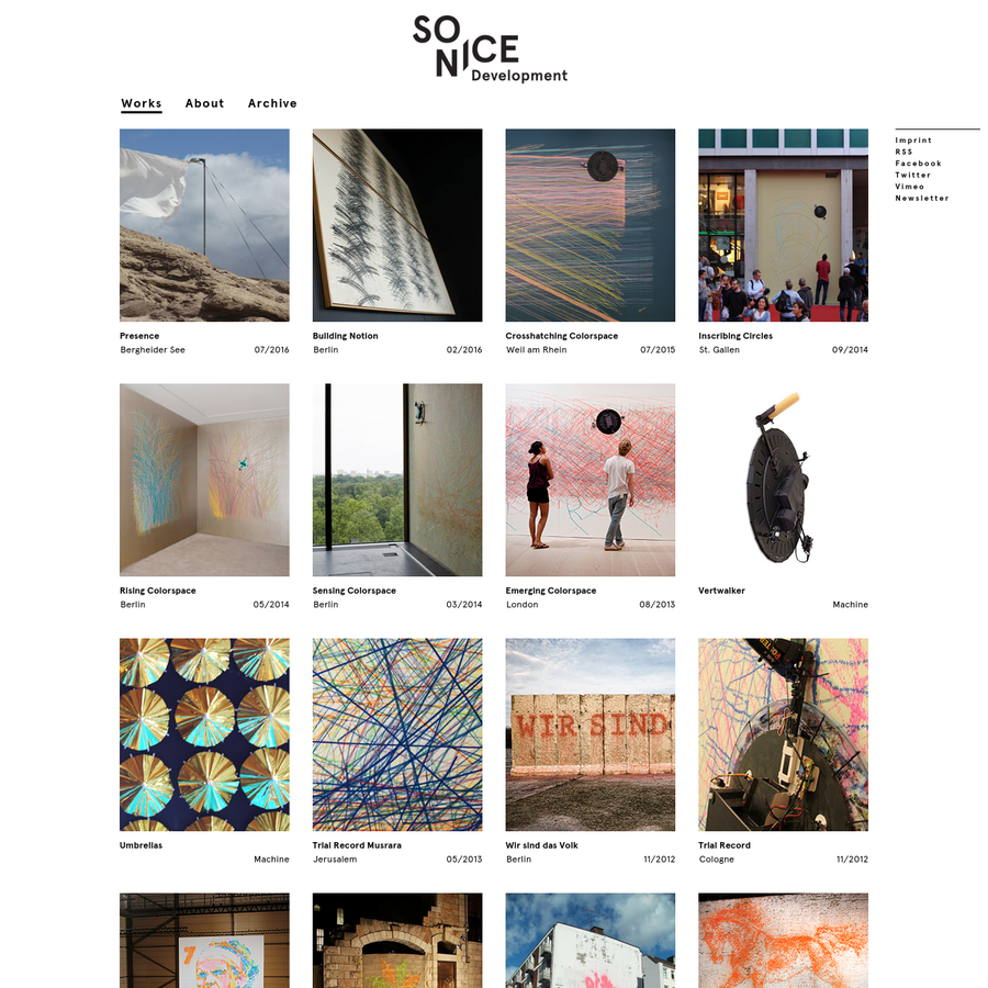 Sonice Development is a Berlin based group of artists and inventors. Our work is focused on drawing-machines and interactive installations that transcend the borders between the digital and the physical, technology and art, ideas and materiality.