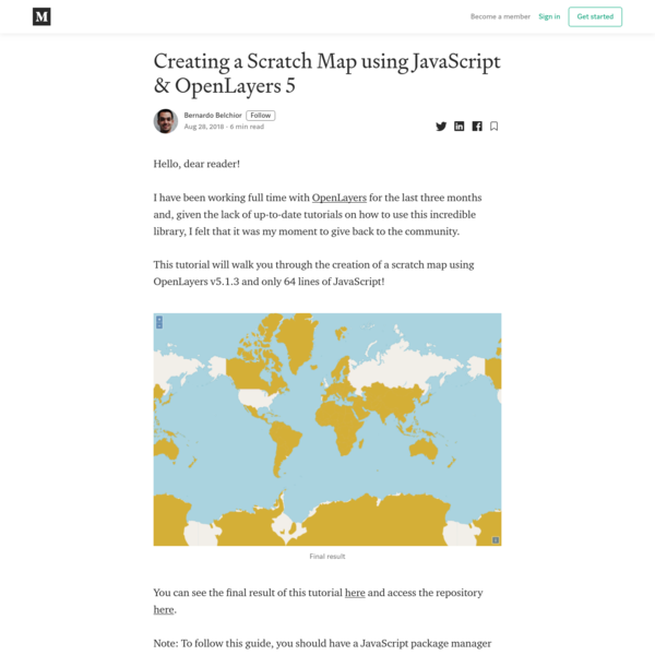 Creating a Scratch Map using JavaScript & OpenLayers 5