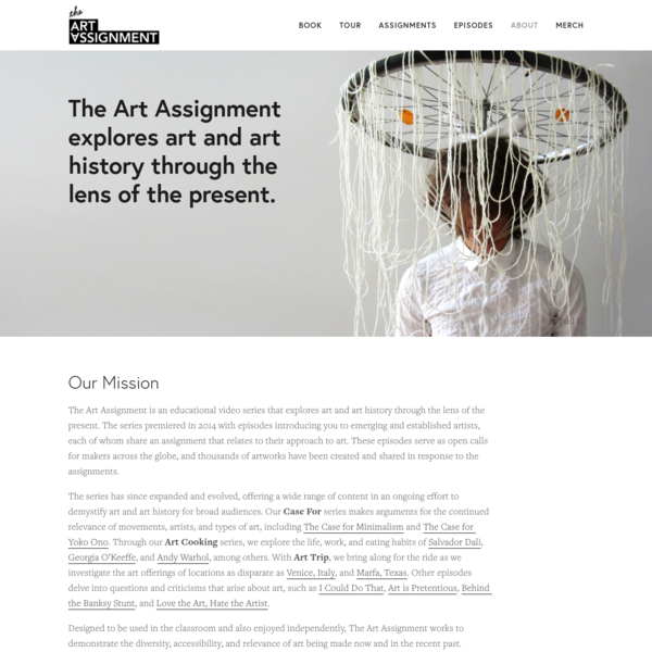 About - The Art Assignment